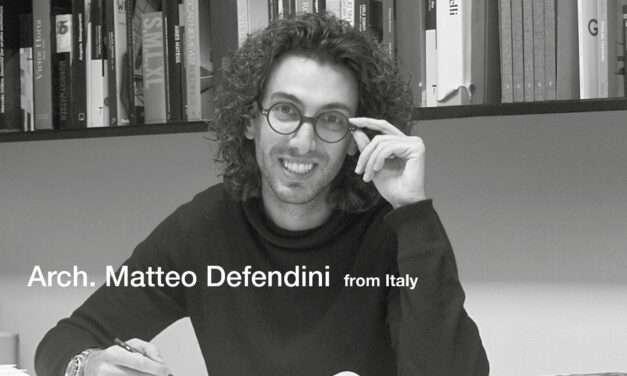 Matteo Defendini, giovane architetto bresciano, premiato tra i 40 migliori architetti e designers europei under 40