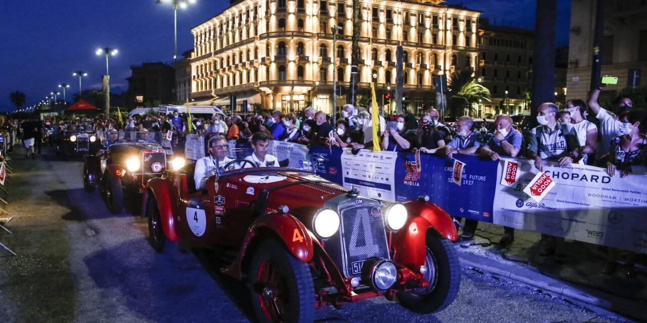 Partita la seconda tappa della 1000 miglia 2021, destinazione Roma